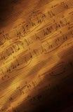 手写的音乐纸张v 库存图片