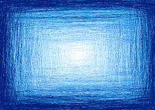 手写蓝色的框架 免版税库存图片
