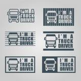 手凹道卡车司机标签 免版税库存图片