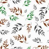 手凹道热带花 无缝的样式背景的开花花 也corel凹道例证向量 免版税库存图片