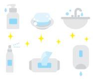 手卫生学方面的产品 皇族释放例证
