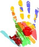 手印刷品与 库存例证