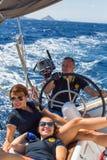 水手参加航行赛船会第16 Ellada 免版税库存照片