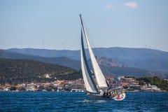 水手参加航行赛船会第16 Ellada 免版税图库摄影