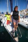 水手参加航行赛船会第16 Ellada 库存图片