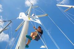 水手参加航行赛船会 图库摄影