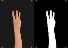 手和一个面具切开的 免版税图库摄影