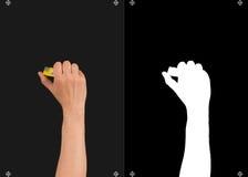 手和一个面具切开的 免版税库存图片