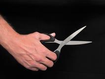 手和剪刀 免版税库存照片