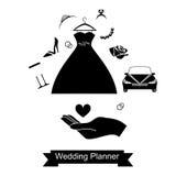 手和婚姻的黑色 免版税库存照片