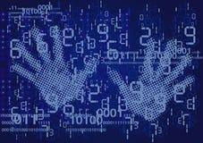 手和数字 库存例证