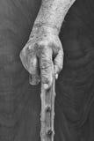 手和棍子 库存照片