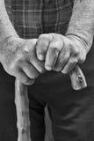 手和棍子 免版税库存图片
