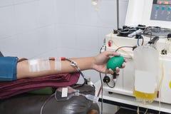 手和献血 库存图片