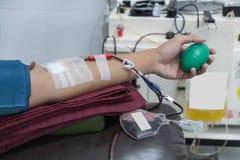 手和献血 图库摄影