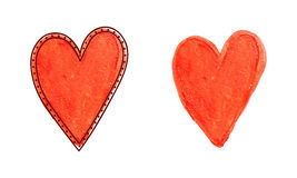 手图画心脏 库存图片