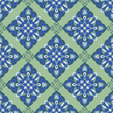 手图画zentangle坛场颜色无缝parteern 意大利色彩强烈样式 库存例证