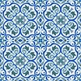 手图画zentangle坛场颜色无缝parteern 意大利色彩强烈样式 向量例证