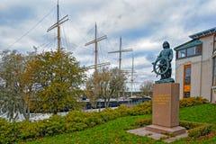 水手在玛丽港, Aland雕刻 免版税库存图片