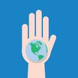 手地球 免版税图库摄影