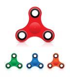 手坐立不安锭床工人重音玩具-五颜六色的传染媒介例证 免版税图库摄影