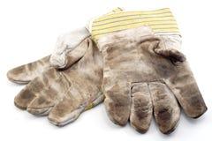 手套使用了工作 库存照片