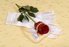 手套婚礼 免版税库存图片