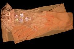手套对变粉红色二 免版税库存照片