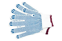 手套新的对工作 免版税库存图片