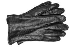 手套查出的皮革白色 免版税库存图片