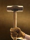 手套锤子爬犁 免版税库存照片