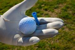手套高尔夫球 库存图片