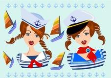 水手妇女女性 免版税图库摄影