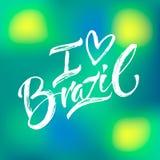 手封缄信片巴西 向量例证