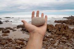 手岩石 免版税库存照片