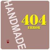 手工制造与404错误 向量例证