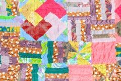 手工制造丝绸补缀品布料 免版税库存照片