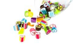 手工制造五颜六色的糖果 库存图片