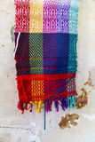 手工制造五颜六色的围巾 库存图片
