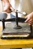 手工制造制造纸张 免版税库存照片