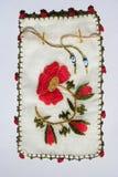 手工制造土耳其刺绣例子 图库摄影