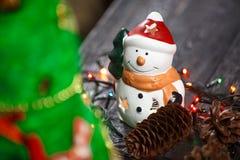 手工制造圣诞树关闭作为背景 免版税库存照片