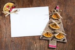 手工制造圣诞节明信片 库存照片