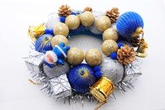 手工制造圣诞节的装饰 免版税库存图片