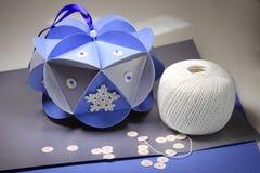 手工制造圣诞节装饰-工艺 库存图片