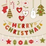 手工制造圣诞节装饰 免版税图库摄影
