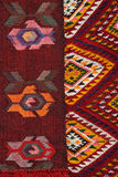 手工制造地毯 传统羊毛手工制造地毯 免版税图库摄影