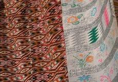 手工制造地毯 传统羊毛手工制造地毯 免版税库存图片