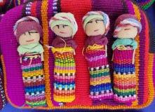 手工制造墨西哥人有五颜六色的织品的被手工造的玩偶 图库摄影