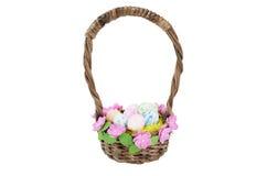 手工制造复活节的篮子 免版税库存照片